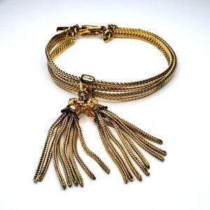 Monet Gold Double Chain Bracelet